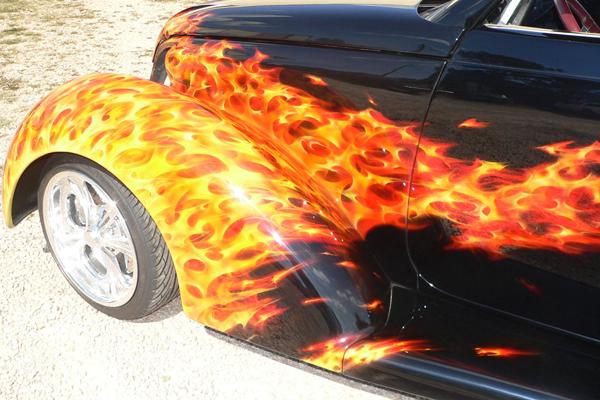 Огонь на авто своими руками